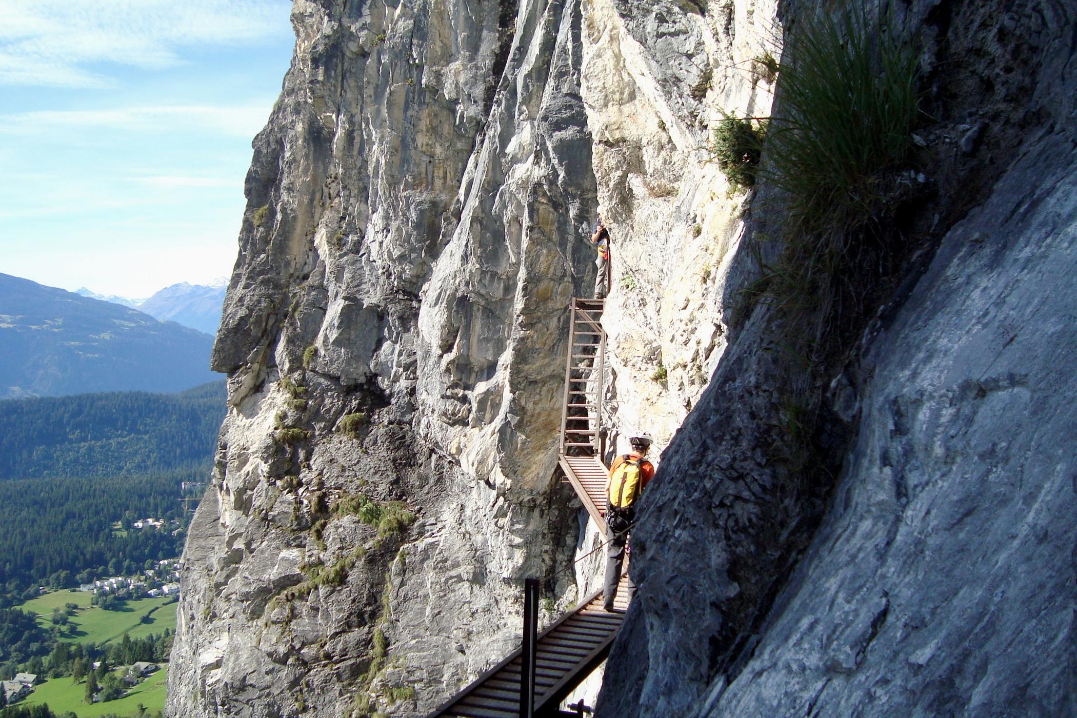 Klettersteig Flims : Klettersteig pinut
